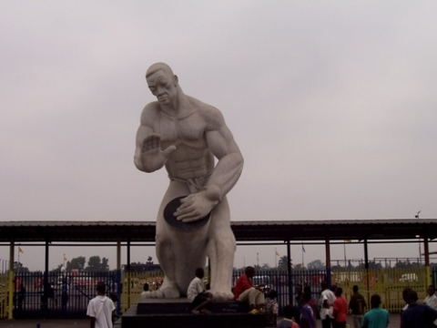 Statue at FIKIN in Kinshasa