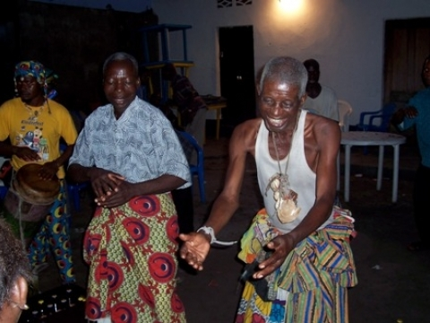 Dancing at a wedding in Kinshasa